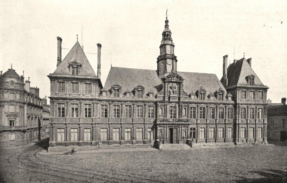 Associate Product MARNE. Hôtel de Ville de Reims 1900 old antique vintage print picture
