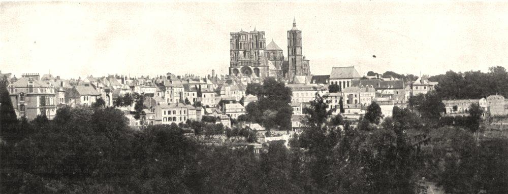 Associate Product AISNE. Vue Générale de la ville et de la Cathédrale de Laon 1900 old print