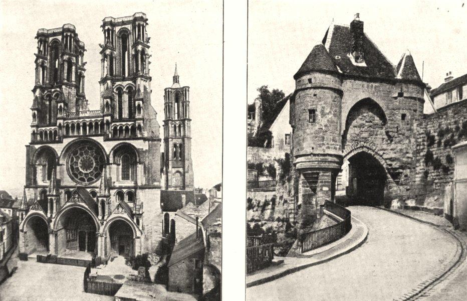 Associate Product AISNE. Cathédrale de Loan; Porte D'ardon, a Laon 1900 old antique print