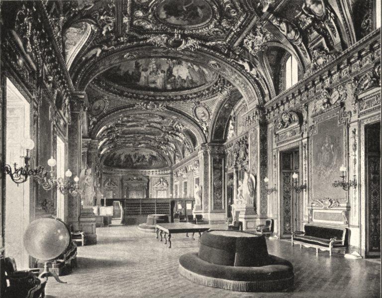 Associate Product PARIS. Palais du Luxembourg. Ancienne Salle du Trône 1900 old antique print