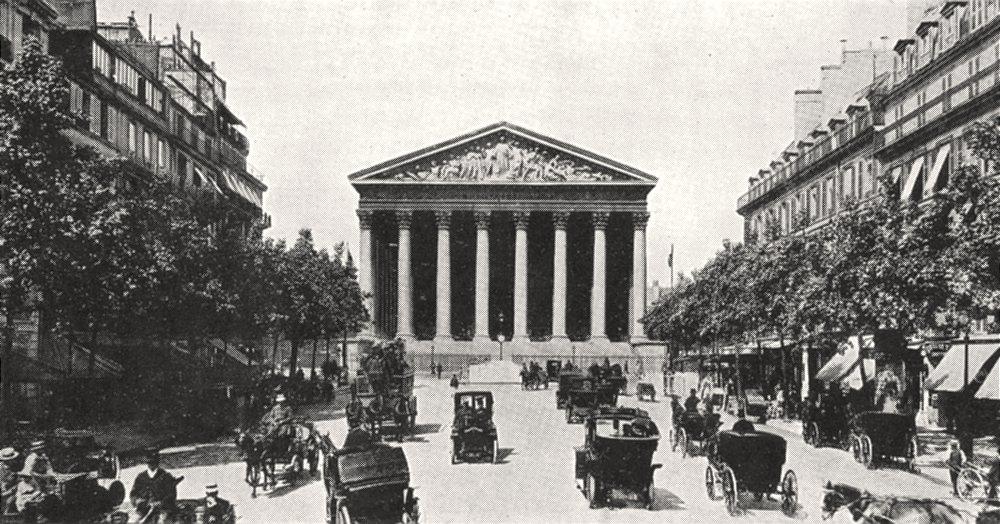 Associate Product PARIS. La Rue Royale et la Madeleine 1900 old antique vintage print picture