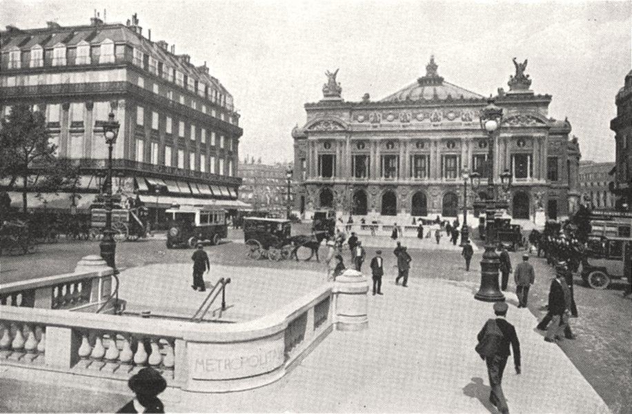 Associate Product PARIS. La place de L'opéra 1900 old antique vintage print picture