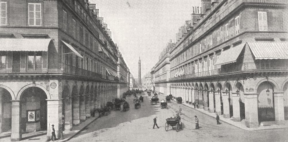 Associate Product PARIS. Paris. Rue de Castiglione et colonne Vendôme 1900 old antique print