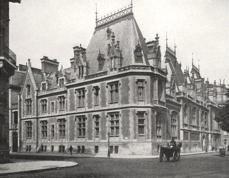 Associate Product PARIS. Hôtel Gaillard, Place Malesherbes 1900 old antique print picture