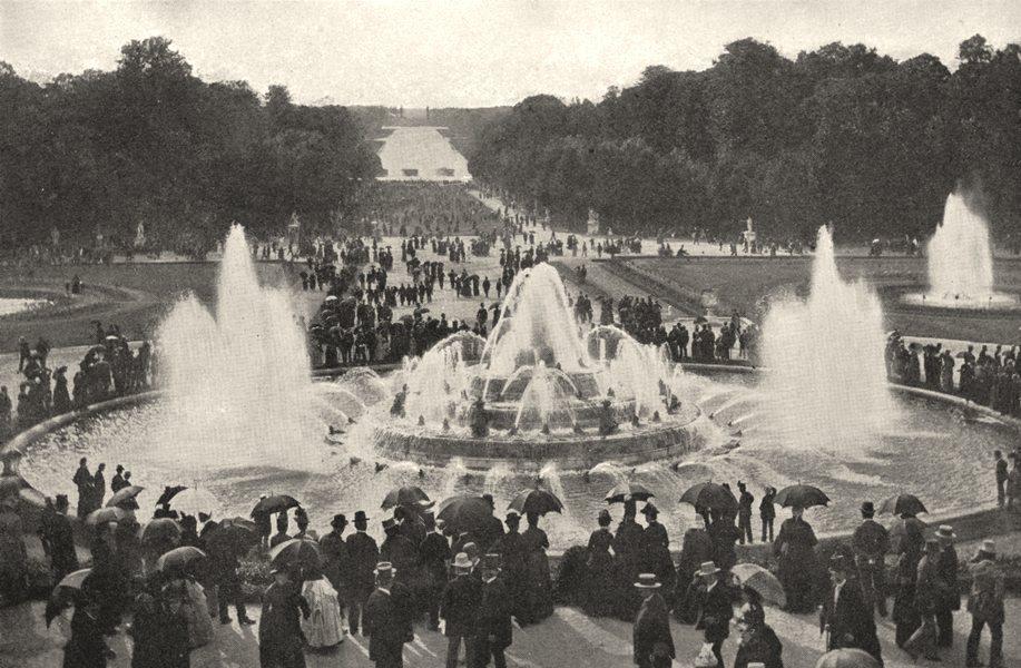 Associate Product YVELINES. Parc de Versailles. Les Grandes Eaux 1900 old antique print picture
