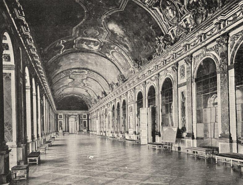Associate Product YVELINES. Galerie des glaces du Chateau de Versailles 1900 old antique print