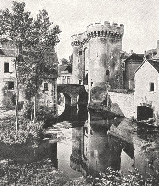 Associate Product EURE- ET- LOIR. Chartres. La Porte Guillaume 1900 old antique print picture