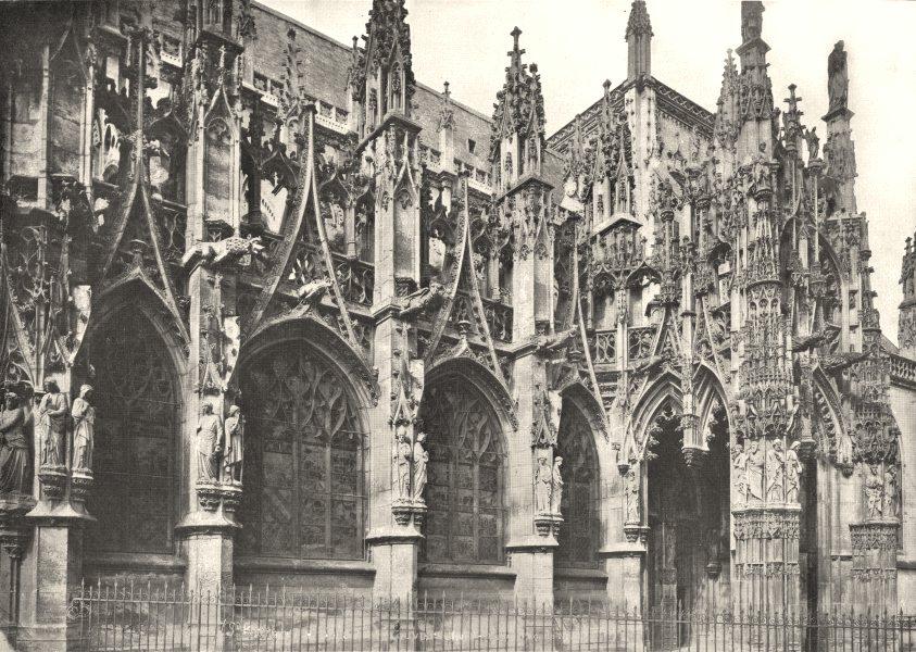 Associate Product EURE. Église de Louviers 1900 old antique vintage print picture