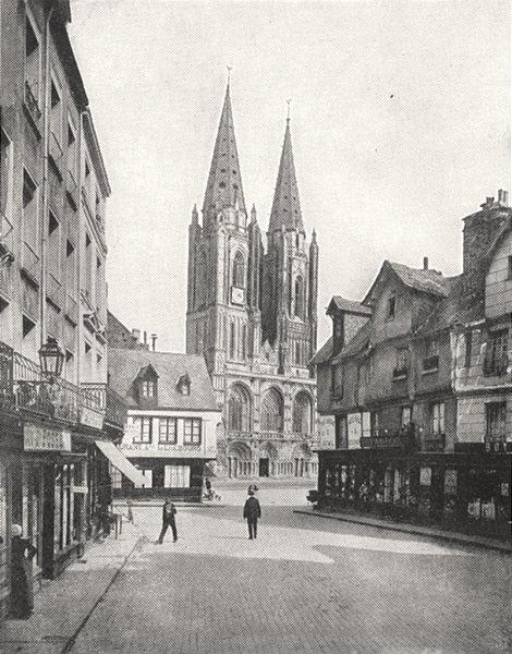 Associate Product MANCHE. Saint- lô. Église Notre- Dame 1900 old antique vintage print picture