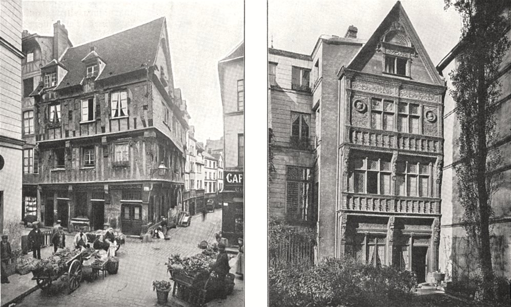 Associate Product SEINE- MARITIME. Rouen. Maison, Rue Eau- de- robec; dite diane Poitiers 1900