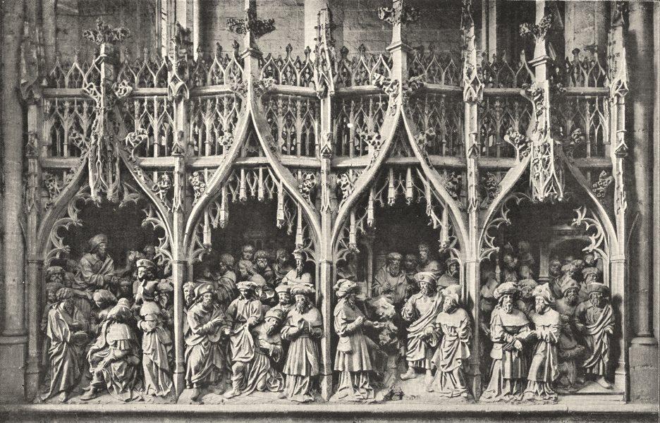 Associate Product SOMME. Pourtour du Choeur de la Cathédrale D'amiens 1900 old antique print