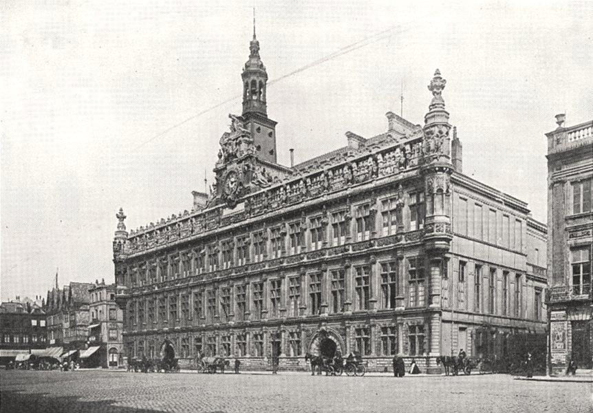 Associate Product NORD. Hôtel de Ville de Valenciennes 1900 old antique vintage print picture