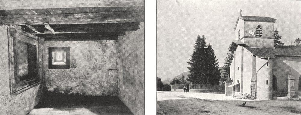 Associate Product VOSGES. Domremy. Chambre de Jeanne D'arc; Église de Domremy 1900 old print