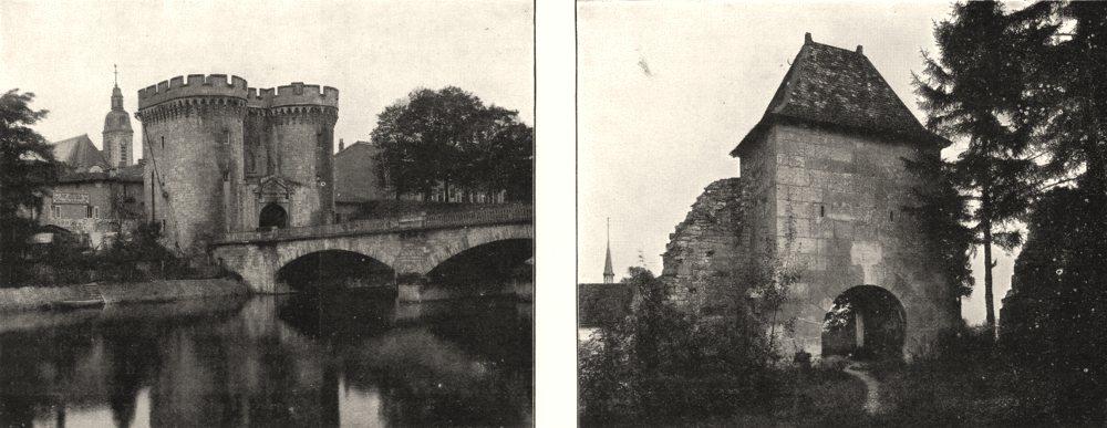 Associate Product MEUSE. Verdun. Porte de la Chaussée; Vaucouleurs. Porte de France 1900 print