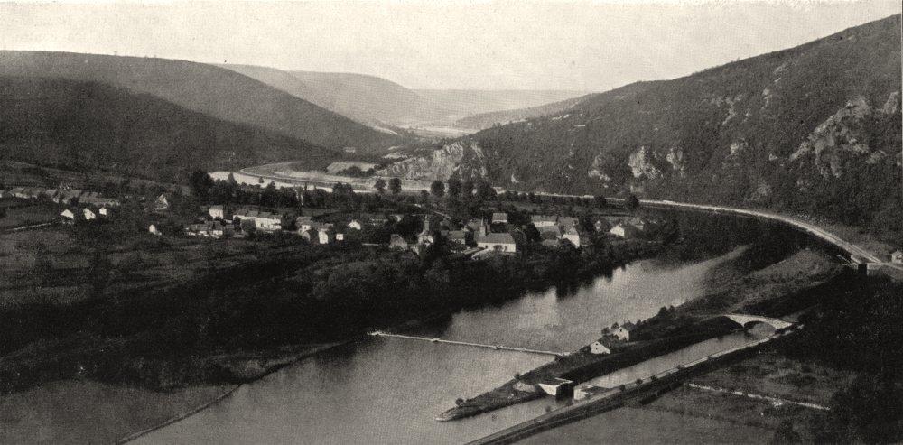 MEUSE. La Vallée de la Meuse, a Fépin 1900 old antique vintage print picture