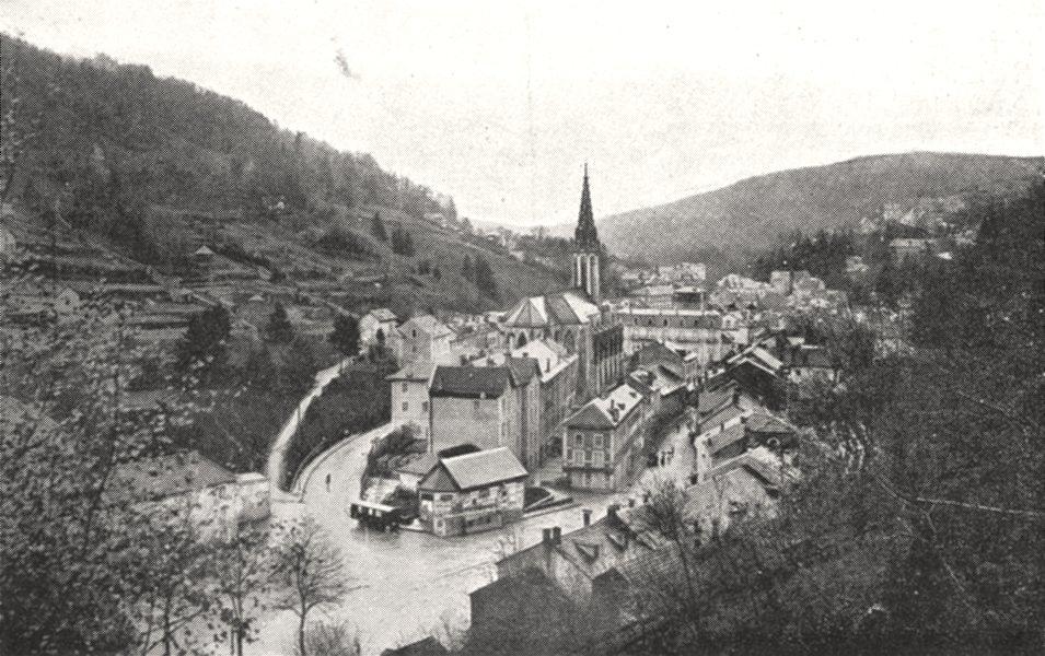 Associate Product VOSGES. Vue Générale de Plombières 1900 old antique vintage print picture