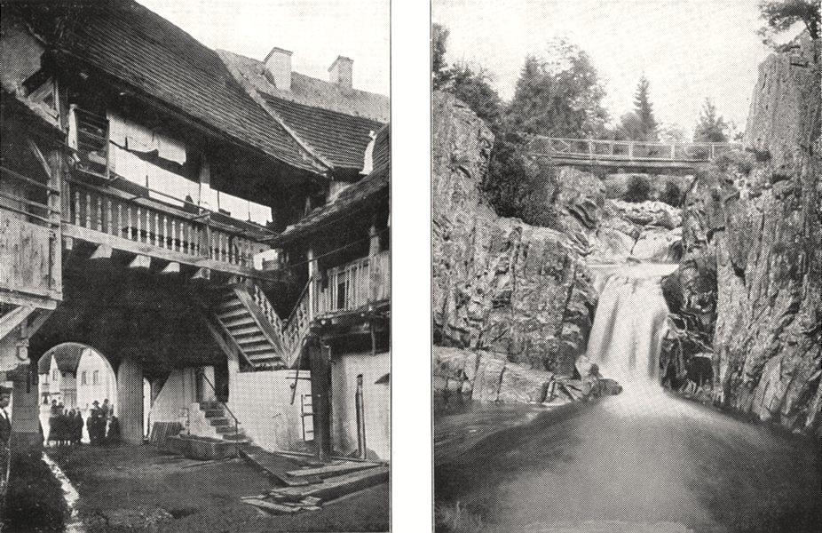 Associate Product VOSGES. Cour D'auberge, a Scherwiller; Saut de la Cuve, Près Remiremont 1900