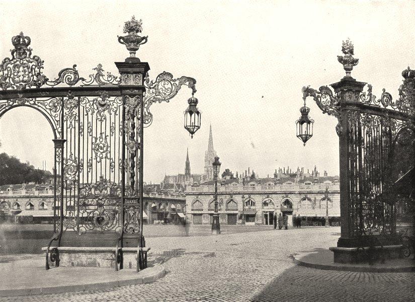 Associate Product MEURTHE- ET- MOSELLE. Nancy. Place Stanislas et Grilles de Jean Lamour 1900