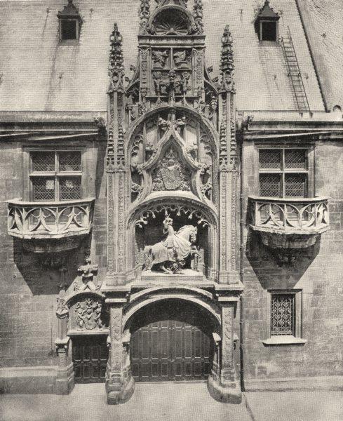 Associate Product MEURTHE- ET- MOSELLE. Nancy. Porte du Palais Ducal 1900 old antique print