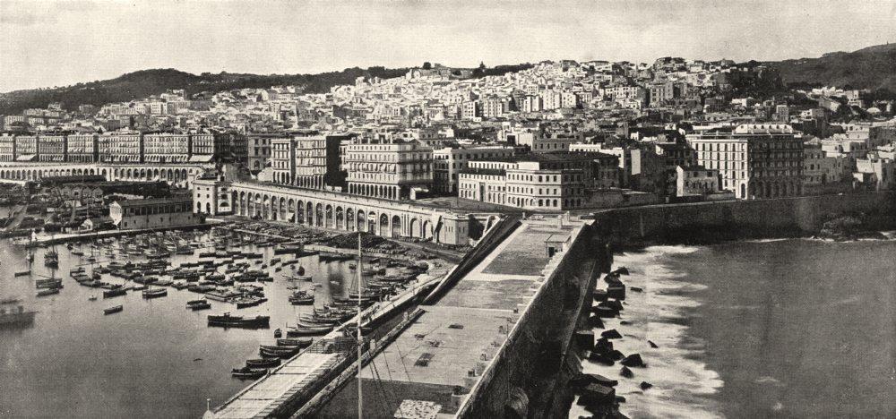 Associate Product ALGERIA. Algiers (Alger) . Vue Générale prise de L'amirauté 1900 old print