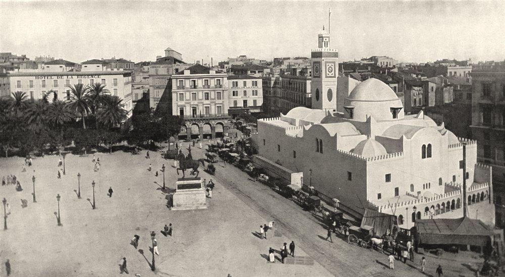 Associate Product ALGERIA. Algiers (Alger) . Place du Gouvernement 1900 old antique print