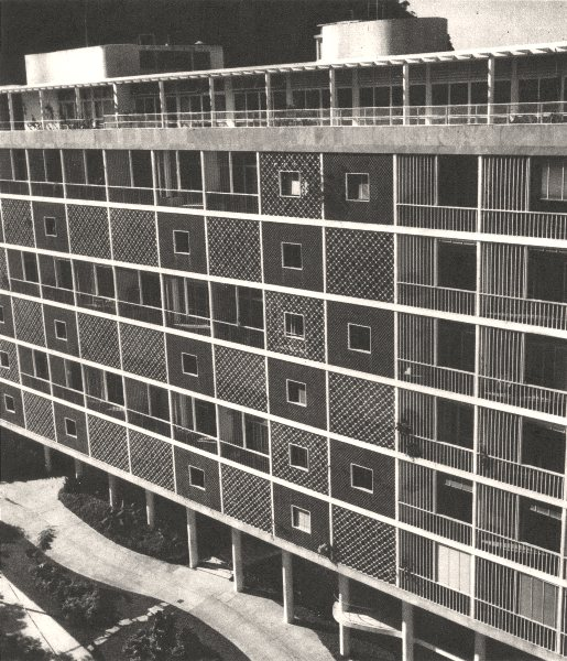 Associate Product BRAZIL. Rio de Janeiro. Groupe D'Appartements au Parc E- Guinle 1951 old print