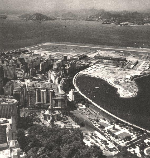 Associate Product BRAZIL. Rio de Janeiro. L'Aérodrome Santos- Dumont Airport 1951 old print