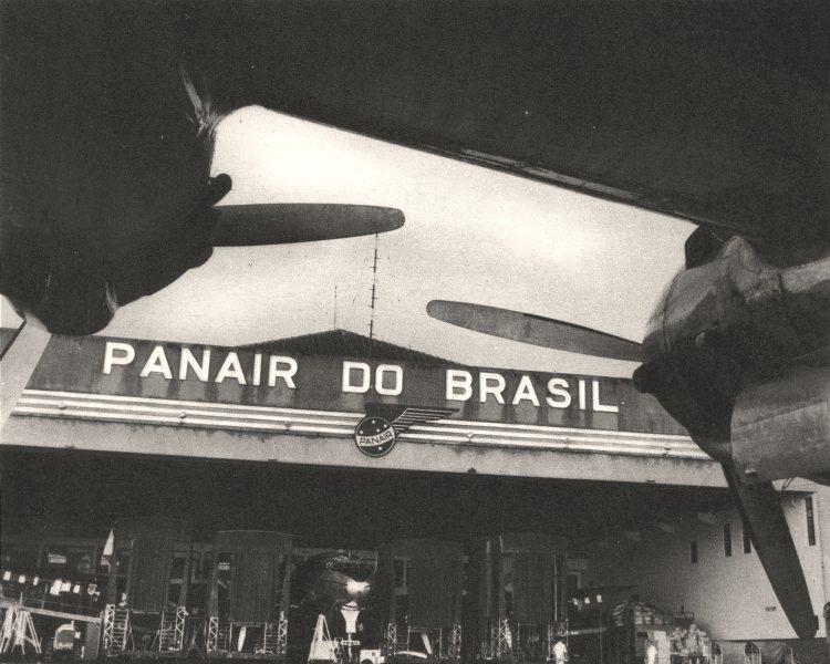 Associate Product BRAZIL. Rio de Janeiro. L'Aéroport Airport 1951 old vintage print picture