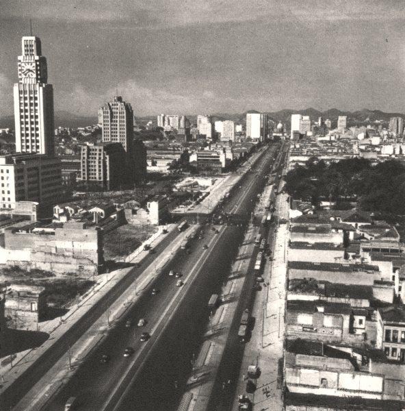 Associate Product BRAZIL. Rio de Janeiro. Avenue du Président- Vargas 1951 old vintage print