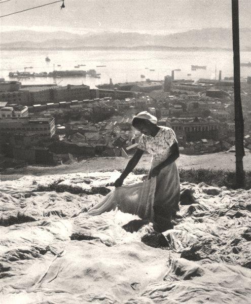Associate Product BRAZIL. Rio de Janeiro. Blanchisseuse (2) Washerwoman 1951 old vintage print