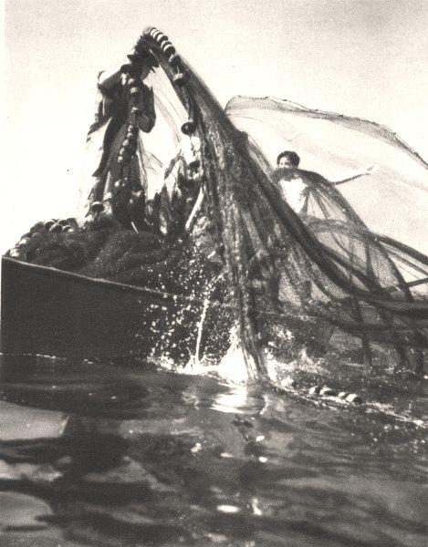 Associate Product BRAZIL. Rio de Janeiro. Pêcheurs Fishing 1951 old vintage print picture
