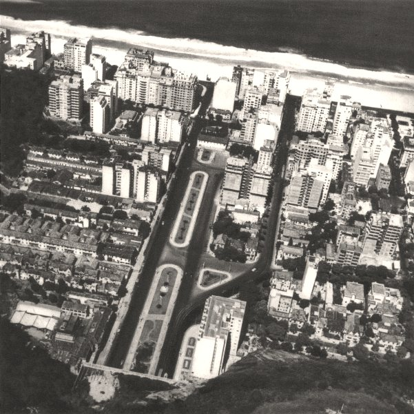 Associate Product BRAZIL. Rio de Janeiro. La Sortie du Tunnel de Copacabana 1951 old print