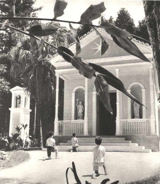 Associate Product BRAZIL. Rio de Janeiro. Forêt de la Tijuca. La Chapelle Mayrink 1951 old print