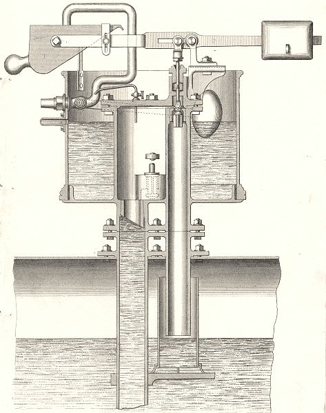 Associate Product MANUFACTURING. Boiler feed Apparatus 1880 old antique vintage print picture