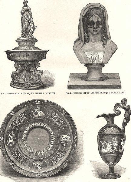 Associate Product CERAMIC ARTS. Porcelain Vase, Minton; Raphaelesque; Royal works, Worcester 1880