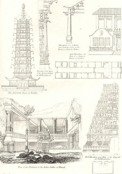 Associate Product BUILDINGS. Civil Architecture 1880 old antique vintage print picture