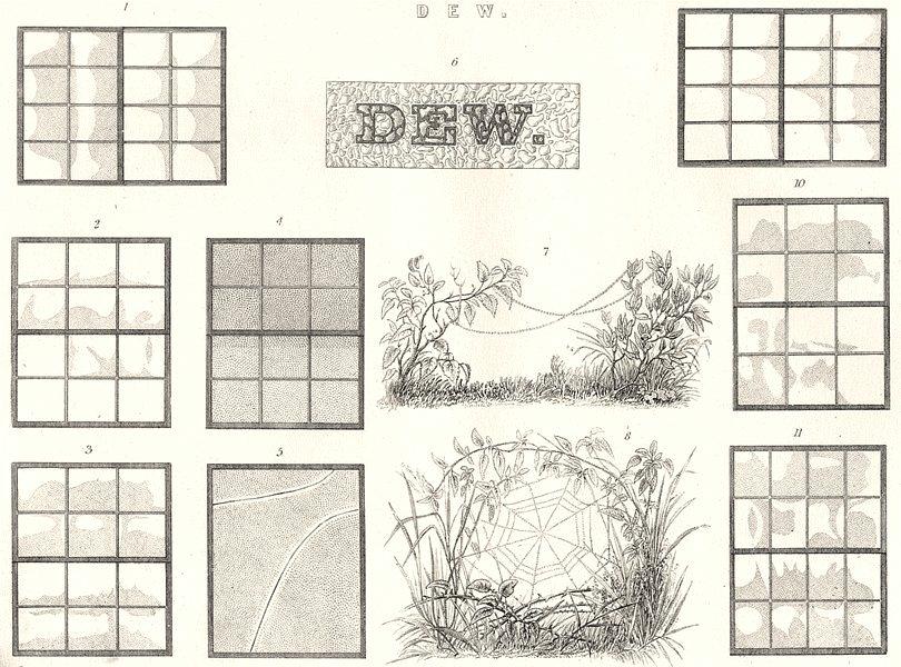 Associate Product LANDSCAPES. Dew 1880 old antique vintage print picture