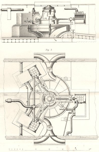 Associate Product SHIPS. Ship. Ruthven's water jet propeller applied to HM waterwitch 1880 print