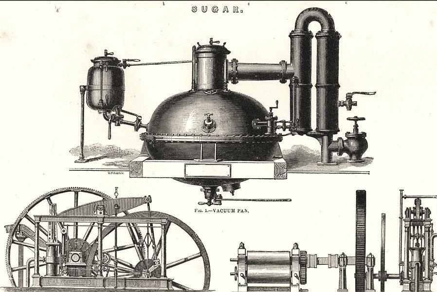 Associate Product SUGAR. Vacuum pan; - Non- Condensing vertical Engine- cane crushing mill 1880