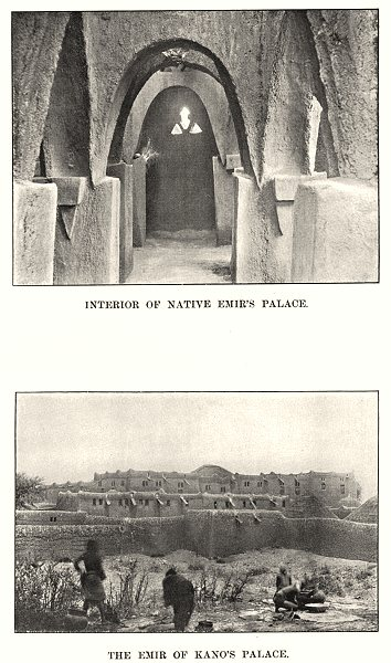 Associate Product NIGERIA. Interior of Native Emir's Palace; The Emir of Kano's Palace 1904