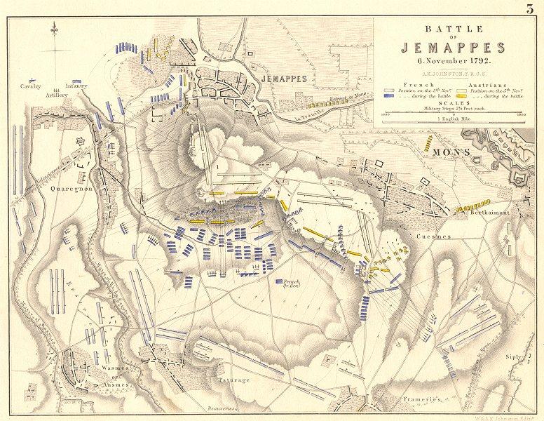 Associate Product BATTLE OF JEMAPPES 6 November 1792. French Revolutionary Wars. Mons 1848