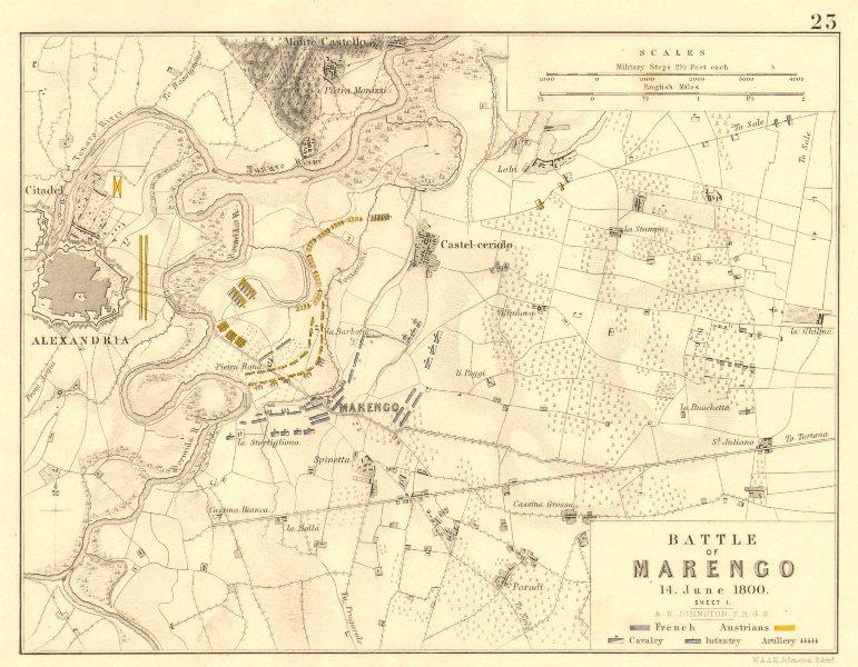 Associate Product BATTLE OF MARENGO 14th June 1800. Sheet 1. Napoleonic Wars. Alessandria 1848 map