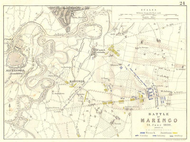 Associate Product BATTLE OF MARENGO 14th June 1800. Sheet 2. Napoleonic Wars. Alessandria 1848 map