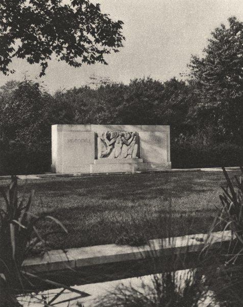 Associate Product LONDON. Hyde Park Bird Sanctuary and Hudson Memorial 1926 old vintage print