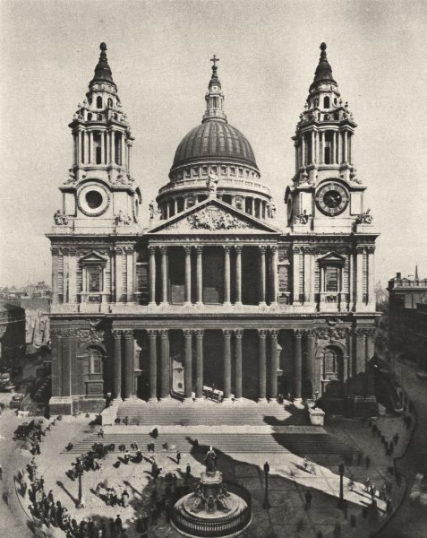 LONDON. The great Church built by Wren on the site of old St. Paul's 1926