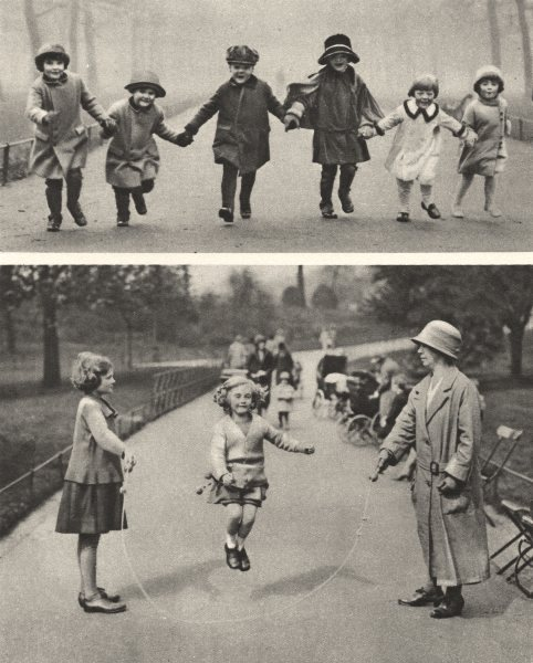 Associate Product HYDE PARK. Children of West End Playground they have made own 1926 old print
