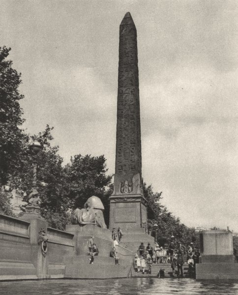 Associate Product LONDON. Cleopatra's needle hewn 1400 years before Cleopatra 1926 old print
