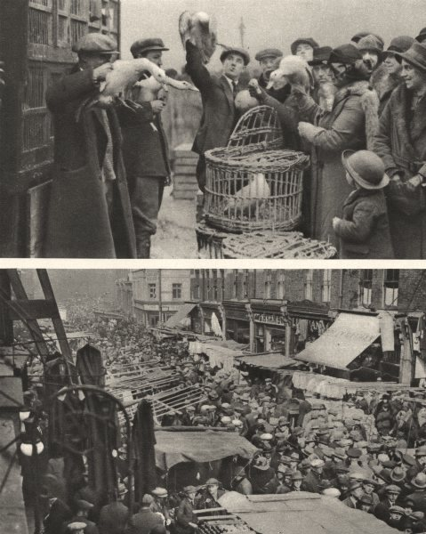 Associate Product LONDON. Two famous London Markets. The Caledonian and Petticoat Lane 1926