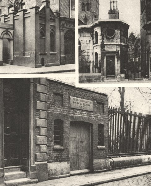 Associate Product LONDON. Body snatchers. Watch houses. Thames Giltspur Street, Rotherhithe 1926
