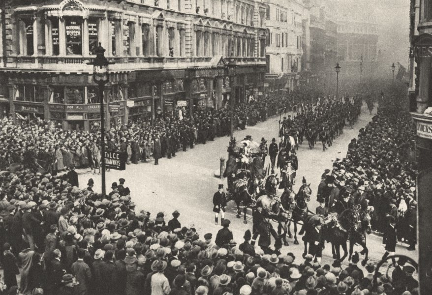 Associate Product LONDON. Queen Victoria Street. New Lord Mayor parade 1926 old vintage print